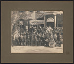 [Unidentified Civil War veterans of Grand Army of the Republic Brooklyn Post No. 368 of Cleveland, Ohio, at 49th Annual Encampment at Washington, D.C., Sept. 27 to Oct. 2, '15]