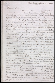 Incomplete letter to] Dear Anne [manuscript