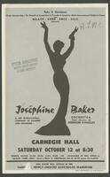 Josephine Baker Flier, circa 1960