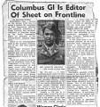 Columbus GI is Editor of Sheet on Frontline, 1950
