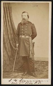 [Major Seneca Gulusha Simmons of 34th Pennsylvania Infantry Regiment in uniform]