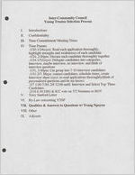 Box 1, Folder 20: Inter-Community Council, 1997