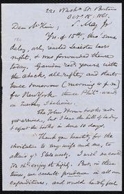Letter to] Mr. McKim [manuscript