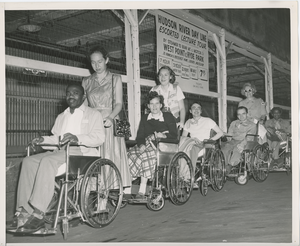 Wheelchair users at Hudson River Day Line
