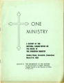 One ministry: a report of the National Consultation on the Negro in the Christian ministry
