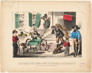 The first of May 1865 or gen'l moving day in Richmond, Va.