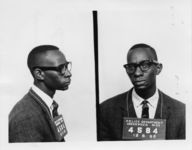 Mississippi State Sovereignty Commission photograph of a profile and head-on view of Samuel Theodore Block taken at the time of his arrest in Greenwood, Mississippi, 1962 December 6