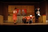 """Scene from Young People's Theatre production of """"Seven Little Rebels"""" performed at Kingsbury Hall, University of Utah, January 16-17, 1953 [5]"""