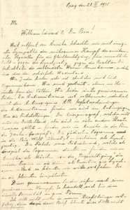 Letter from Fridrich Spitzer to W. E. B. Du Bois