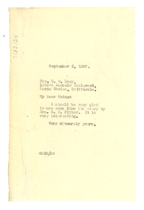 Thumbnail for Letter from W. E. B. Du Bois to Mrs. C. W. Lacy