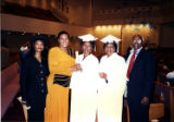 Photograph of Ruth Eppenger D'Hondt in graduation attire, January 5, 2000