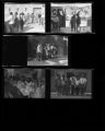Set of negatives by Clinton Wright including A.M. & N. college choir visit and concert, and Kit Carson field trip to Hoover Dam, 1966