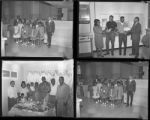 Set of negatives by Clinton Wright including Birtha's Birthday, Mr. George Wand's Class at First National Bank, Tennis Champs at Center, Madison Mother's Club, 1964