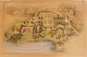 """International YMCA College, Springfield Mass: Sketch for Future Development"" (1926)"