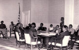 Photograph of a civil rights meeting