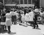 Students demonstrating at the University of Alabama at Birmingham to protest the Kent State shootings on May 4, 1970.