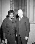 Mahalia Jackson with Gordon Hahn, Los Angeles, 1962