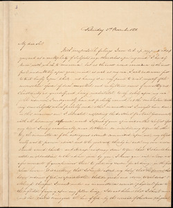 Letter from Augustus William Hanson to William Lloyd Garrison, 1838 November 3rd