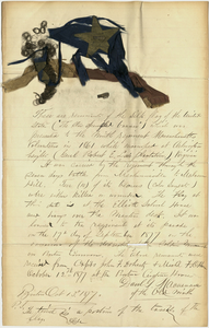 Civil War flag remnants and testimony, 1877 October 12