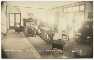 Reception room. Prince Hall. Masonic Home. R.I. Ill. postcard, about 1927