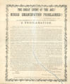 The Great Event of the Age! Negro Emancipation Proclaimed!