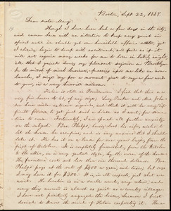 Letter from William Lloyd Garrison, Boston, [Mass.], to Mary Benson, Sept. 22, 1838