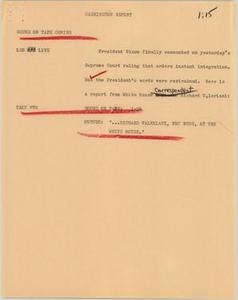 News Script: Nixon talks desegregation