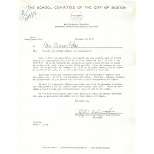 Letter, reunion del comite central de planeamiento.