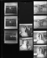 Set of negatives by Clinton Wright including Harriett and Willie Scott's wedding, Valerie Murray, Grace McGlothin's mother, Women's Demonstration Club, and a barber shop marquee, 1968