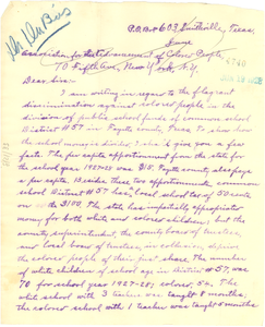 Letter from C. A. Young to W. E. B. Du Bois