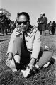 African American woman at a rest stop along the route of the Selma to Montgomery March.