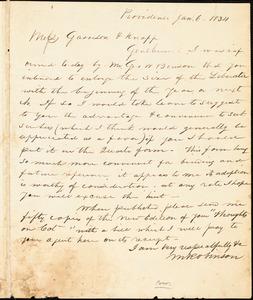 Thumbnail for Letter from Martin Robinson and Henry Egbert Benson, Providence, [Rhode Island], to William Lloyd Garrison and Isaac Knapp, 1834 Jan[uary] 6