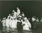 Annual Baptism by Elder Michaux & Church of God--at the Griffith Stadium [photoprint, ca. 1930-1950]