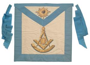 Masonic apron from the Prince Hall Grand Lodge of Massachusetts