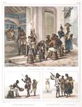 Marchand de tabac [above]; L'aveugle chanteur. Marchande de pandelos [below]