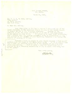 Letter from D. R. Clarke to W. E. B. Du Bois
