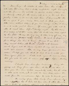 Letter from William Lloyd Garrison, [Boston, Mass.], to George William Benson, Friday noon, Jan 30, [i.e. Jan. 28, 1842]