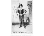 Drawing of William Davidge in the role of Pistol from a production of the play KING HENRY V