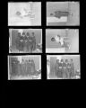 Set of negatives by Clinton Wright including Mintonette Singers, voter registrants, Golden Western advertisement, Mrs. Barnell and Fish, Doolittle Recreation Center, and archery class, 1966