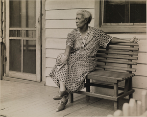 Untitled (Woman on a Bench), from the project The Negro in Virginia