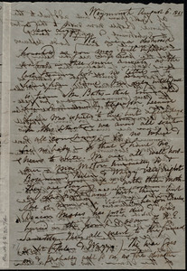 Letter from Maria Weston Chapman, Weymouth, [Mass.], to Elizabeth Bates Chapman Laugel, August 6, 1861