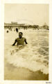 Photograph of A.O. Steele in the surf of Atlantic City beach
