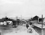 """Looking toward La Plaza along """"Calle de los Negros"""""""