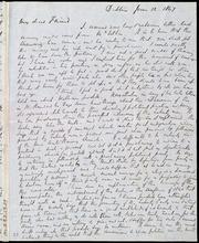 Letter to] My dear Friend [manuscript