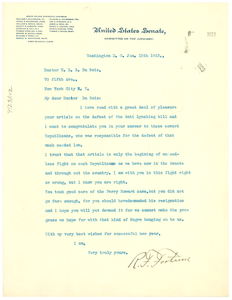 Letter from R. F. Fortune to W. E. B. Du Bois