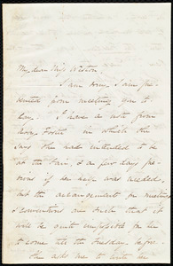 Letter from Sarah Russell May to Miss Weston, [Dec. 1848?]