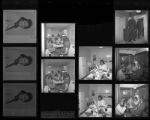 Set of negatives by Clinton Wright including Operation visiting Colonel Frank's, Second Baptist Chapter Anniversary, Earl's style, birthday party at Sugar Hill Hall, and Mrs. L.M. Neal's birthday party, 1967