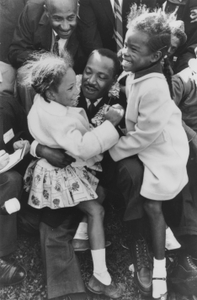 Dr. Martin Luther King Jr. with Two Young Children