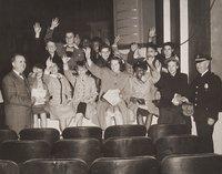 Police benefit, William H. Mortensen with kids on stage, Hartford