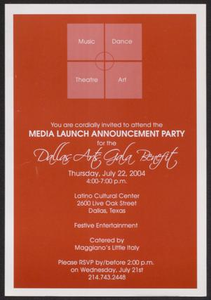 Flyer: Media Launch Announcement Party